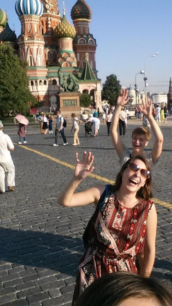 Probowalysmy zrobić idealne selfie na Placu Czerwonym, ale nie była to łatwa sprawa
